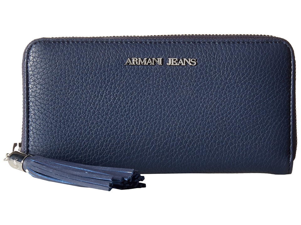 Armani Jeans - Zip Around Wallet with Tassle Detail (Blue) Wallet Handbags