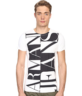 Armani Jeans - Large Vertical Color Block Logo Tee
