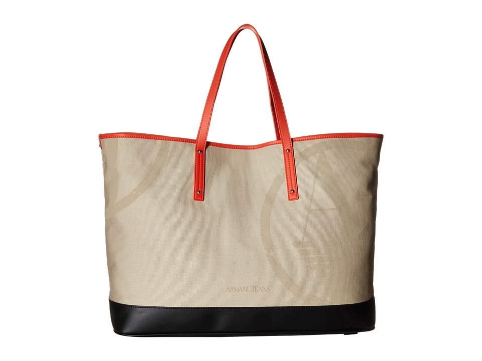 Armani Jeans - Canvas Shopping Bag (Beige) Bags