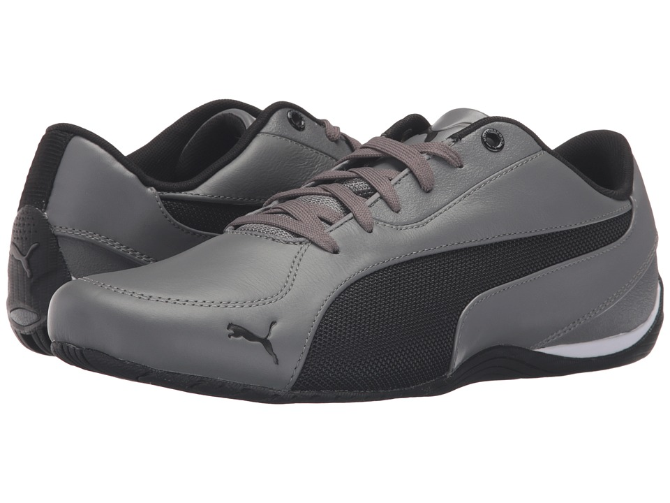 PUMA - Drift Cat 5 Leather (Steel Gray/Puma Black) Men