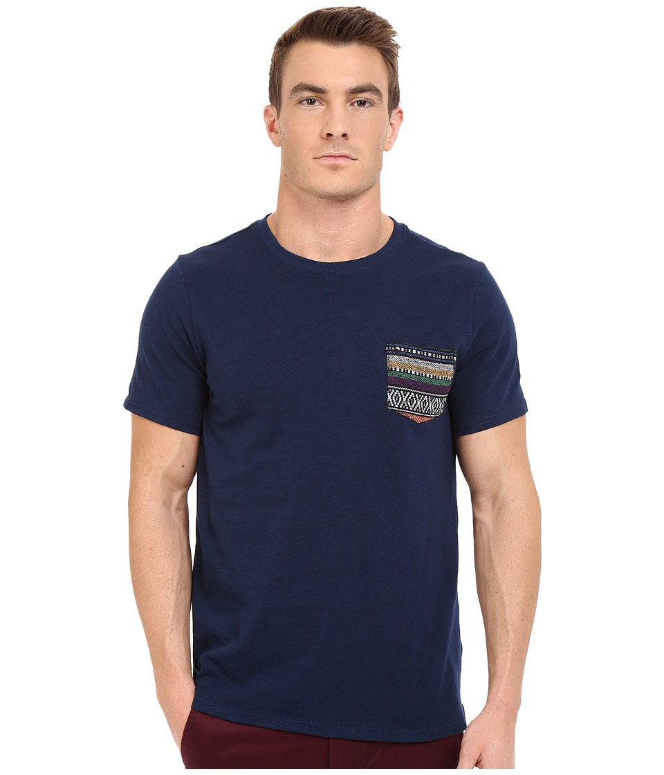Threads 4 Thought Baja Jaquard Pocket Tee Dark Berry Mens T Shirt
