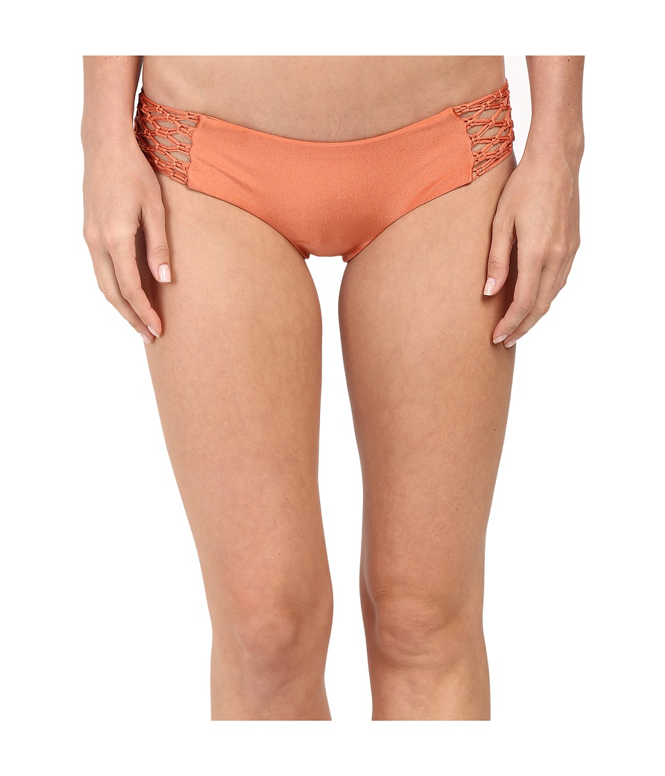Amuse Society Ana Solid Boycut Bottom Brandy Womens Swimwear