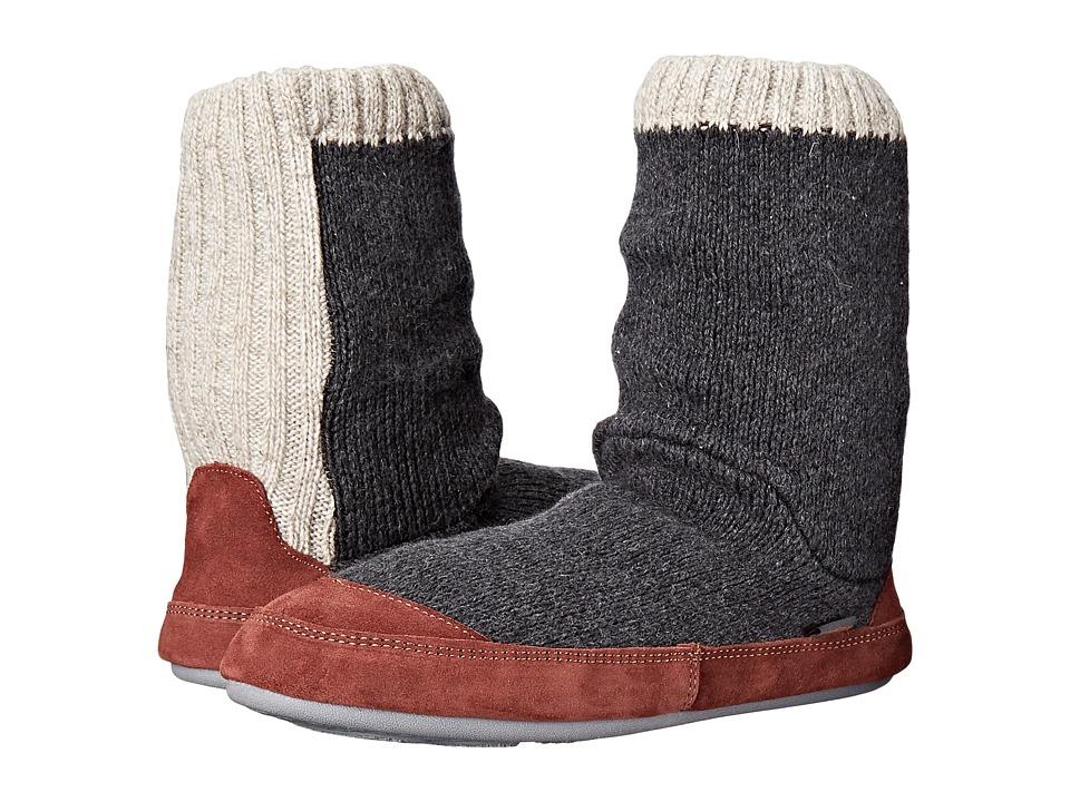 Acorn Slouch Boot (Charcaol Ragg Wool) Men