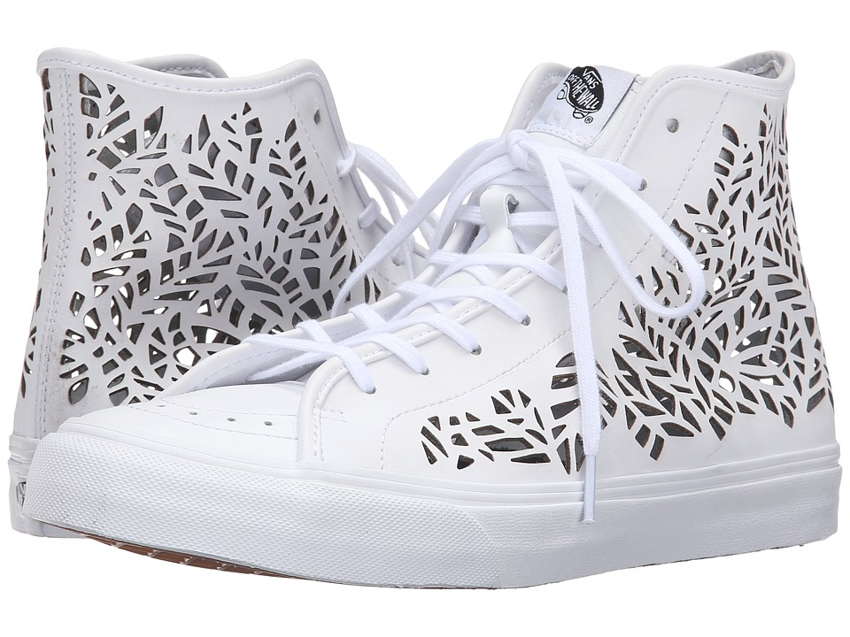 Vans SK8-Hi Decon ((Cut Out) Leaves/White) Skate Shoes