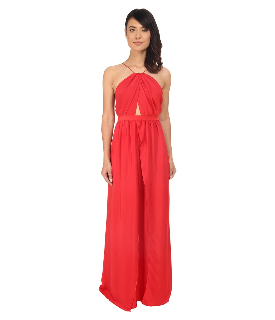 The Jetset Diaries Lotus Maxi Dress Coral Womens Dress