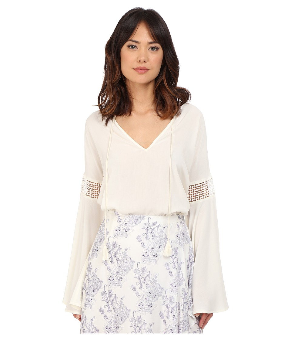 The Jetset Diaries Hammock Blouse Ivory Womens Blouse