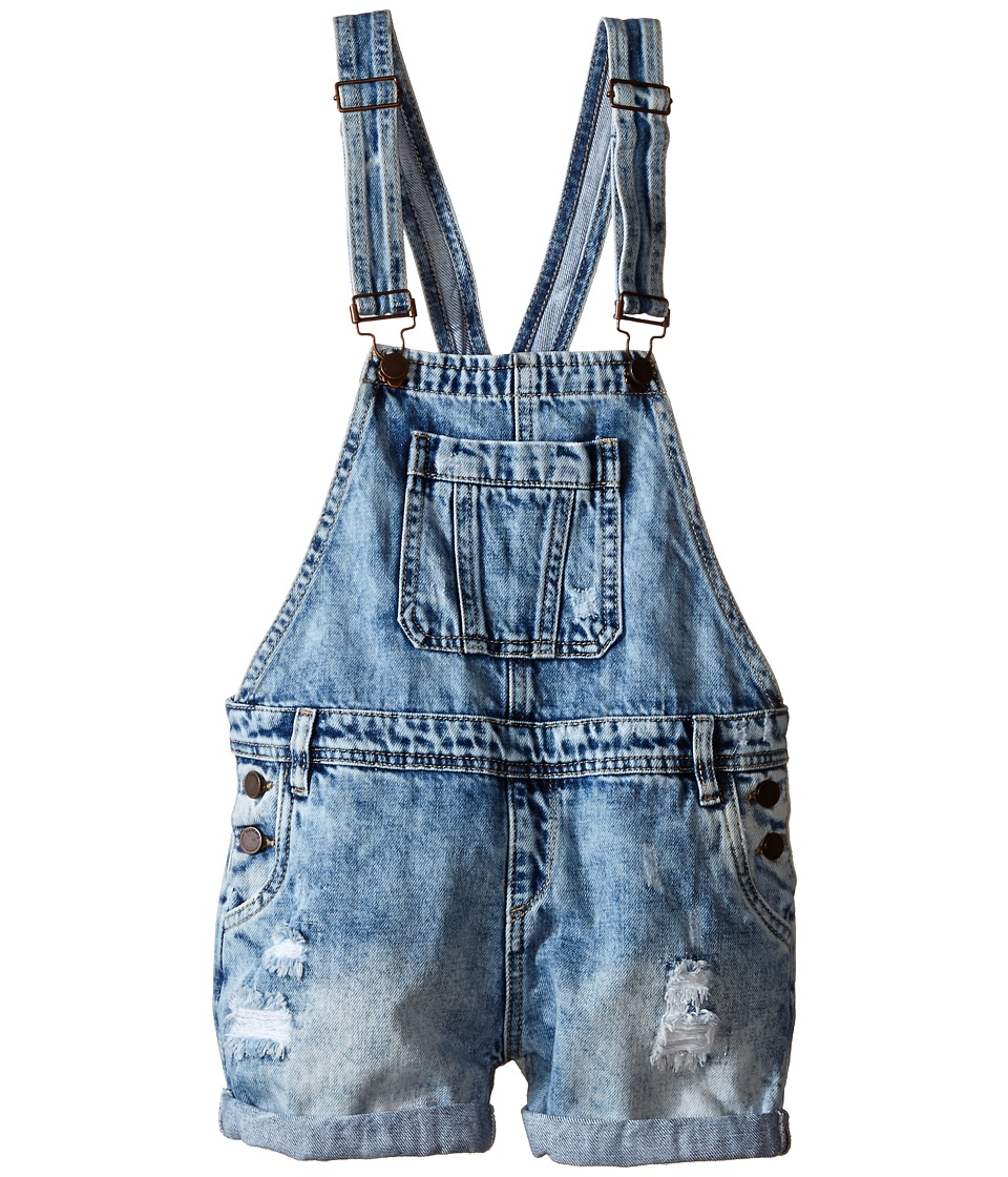 Blank NYC Kids Denim Overall in Take It Easy Big Kids Blue Girls Overalls One Piece