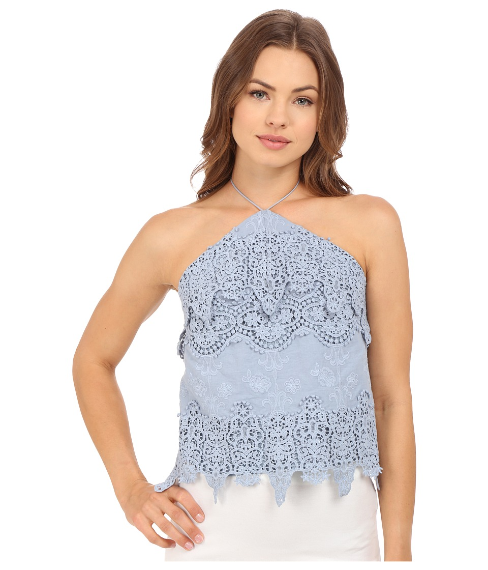 The Jetset Diaries Cielo Top Dusty Blue Womens Clothing