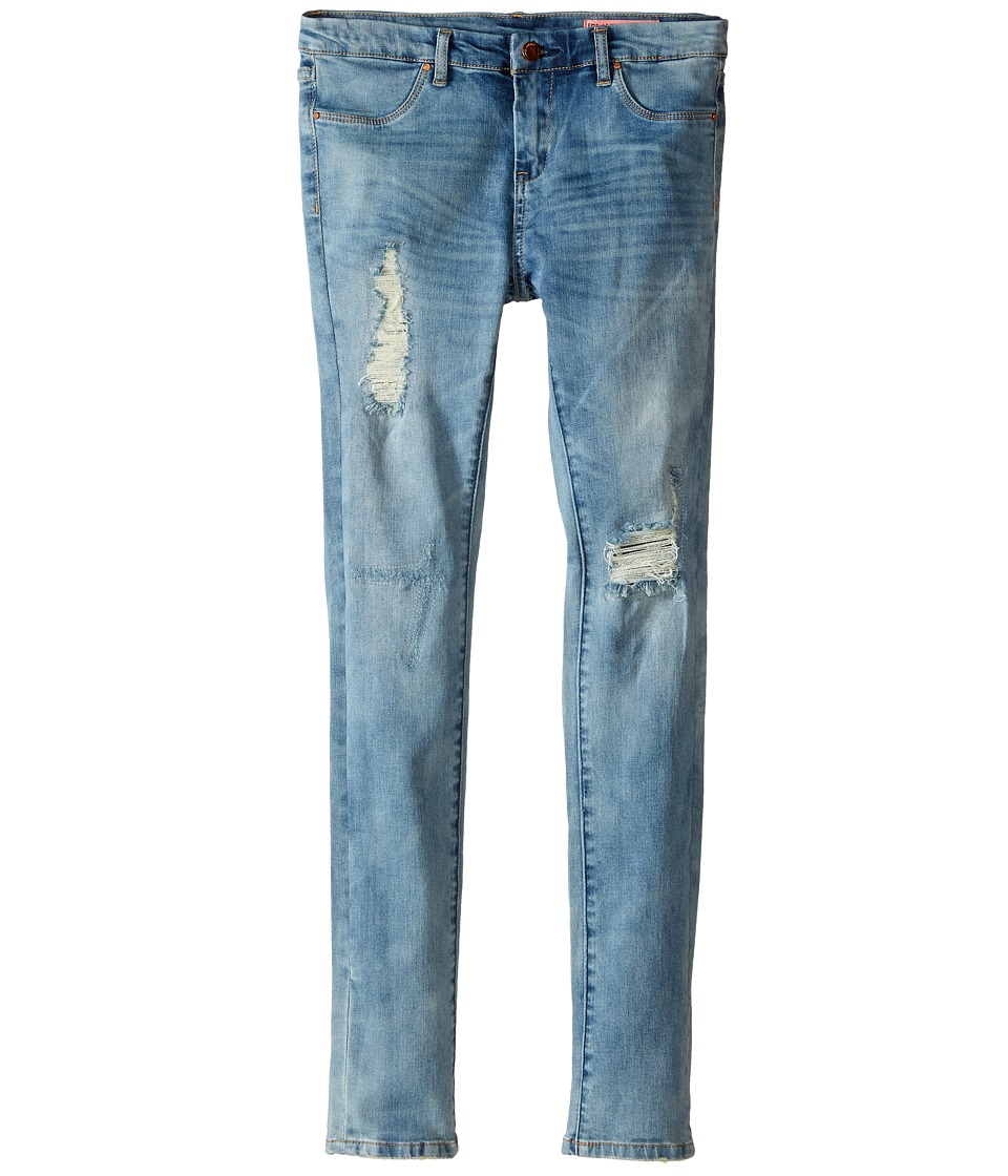 Blank NYC Kids Denim Distressed Skinny Jeans in All Day Big Kids Blue Girls Jeans