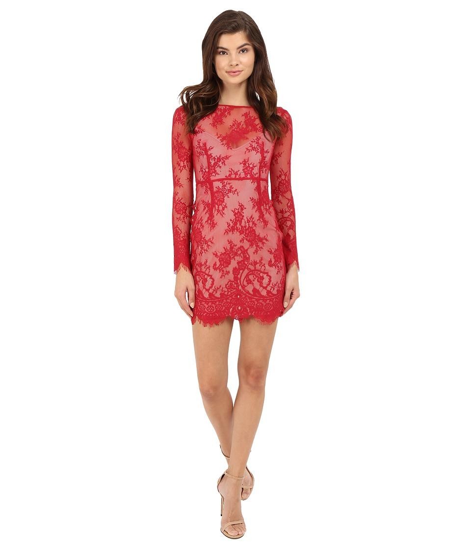 The Jetset Diaries Dulce Bodycon Dress Crimson Womens Dress