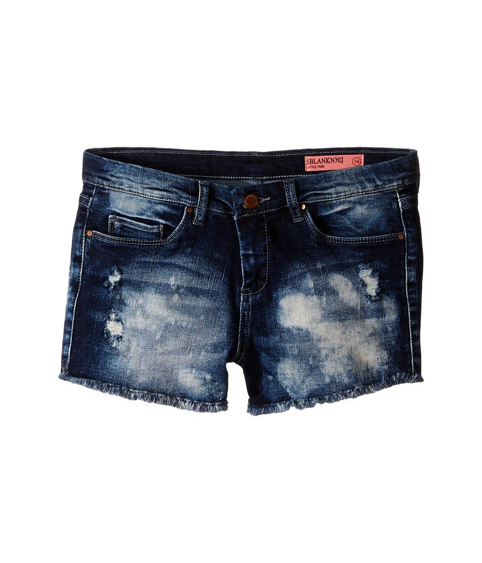 Blank NYC Kids Denim Cut Off Shorts in Rufus Big Kids Blue Girls Shorts