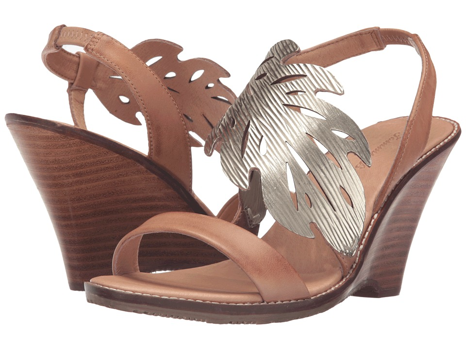 Tommy Bahama Plumeria Wedge (Light Gold/Natural) Women