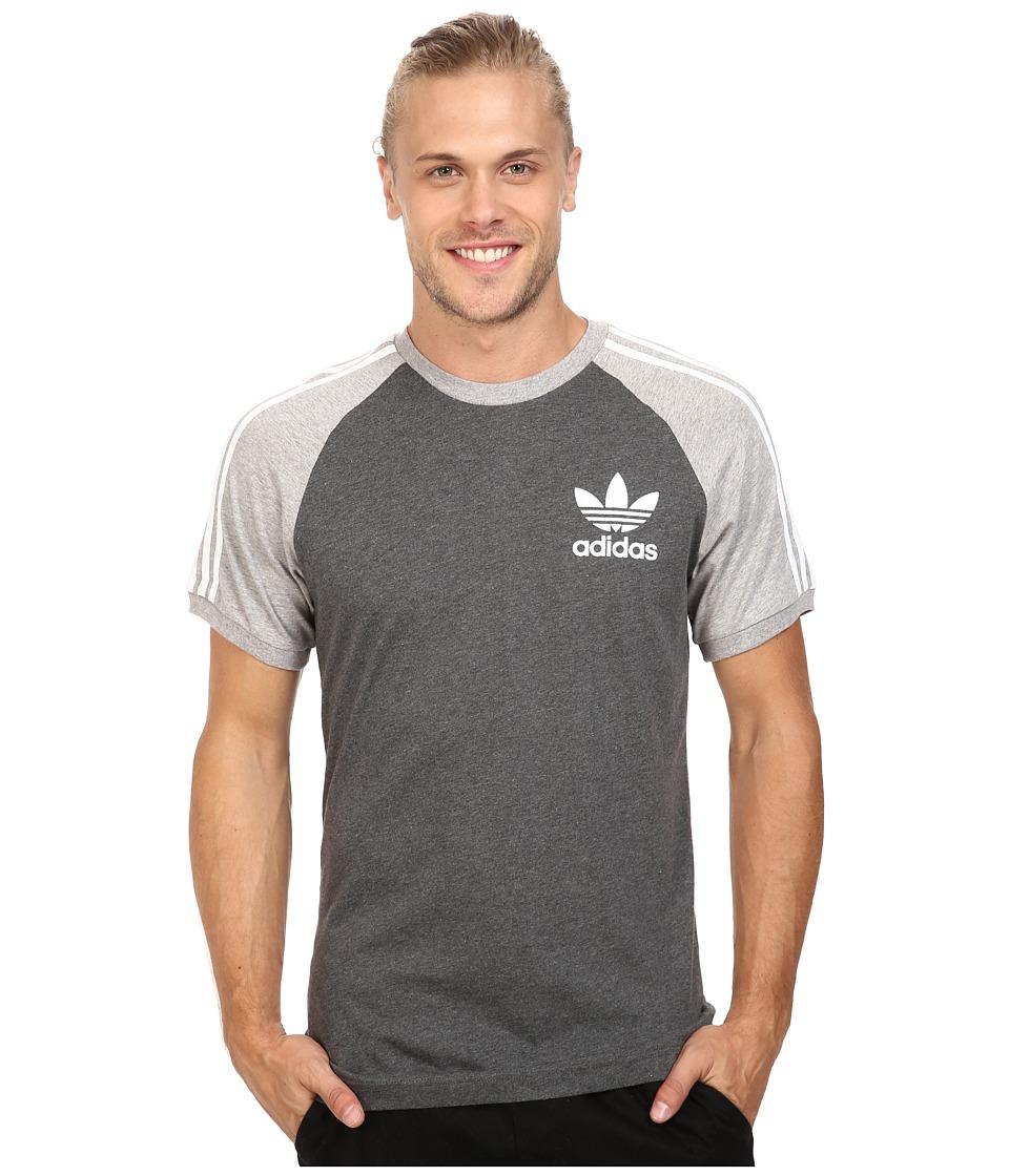 adidas Originals - California Tee (Dark Grey Heather/Medium Grey Heather) Men