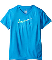 Nike Kids - Legend V-Neck Swoosh Fill Tee (Little Kid/Big Kid)