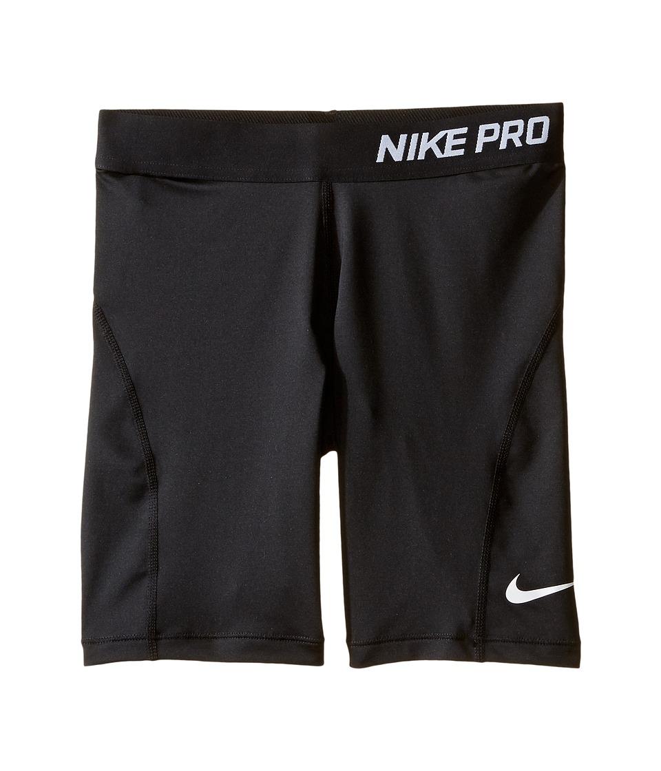 Nike Kids - Pro Cool Training Short (Little Kid/Big Kid) (Black/Black/White) Girl's Shorts