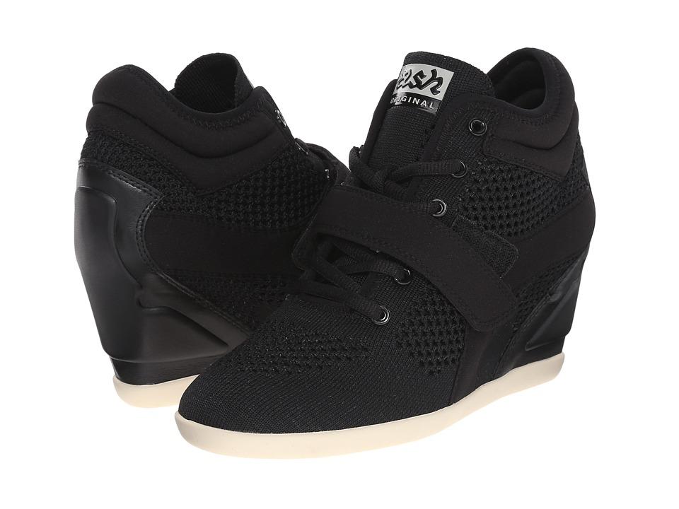 ASH Bebop Black/Black/Black/Knit/Plain Neoprene Womens Lace up casual Shoes