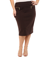 MICHAEL Michael Kors - Plus Size Zip Ponte Long Pencil Skirt