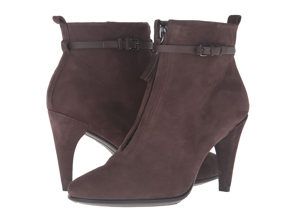 ECCO - Shape 75 Sleek Ankle Boot (Coffee/Coffee Calf Nubuck/Cow Nubuck) Women