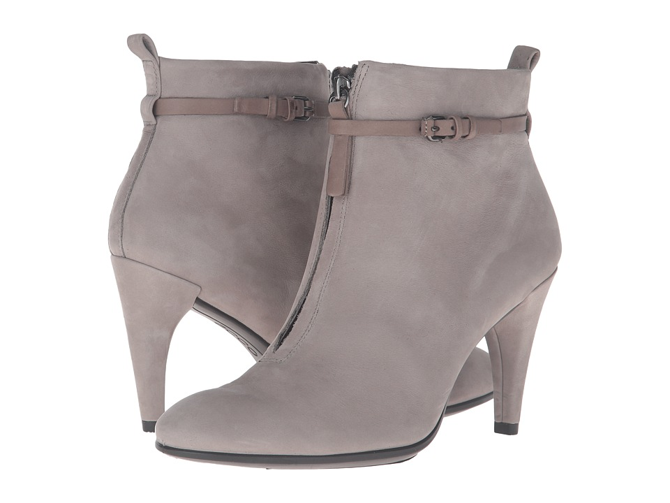 ECCO - Shape 75 Sleek Ankle Boot (Warm Grey/Warm Grey Calf Nubuck/Cow Nubuck) Women