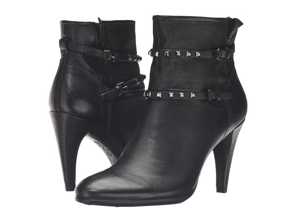 ECCO - Shape 75 Sleek Boot (Black/Black Calf Leather/Cow Nubuck) Women