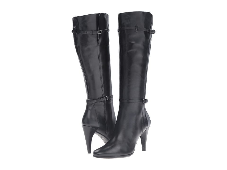 ECCO - Shape 75 Sleek Tall Boot (Black Cow Leather) Women