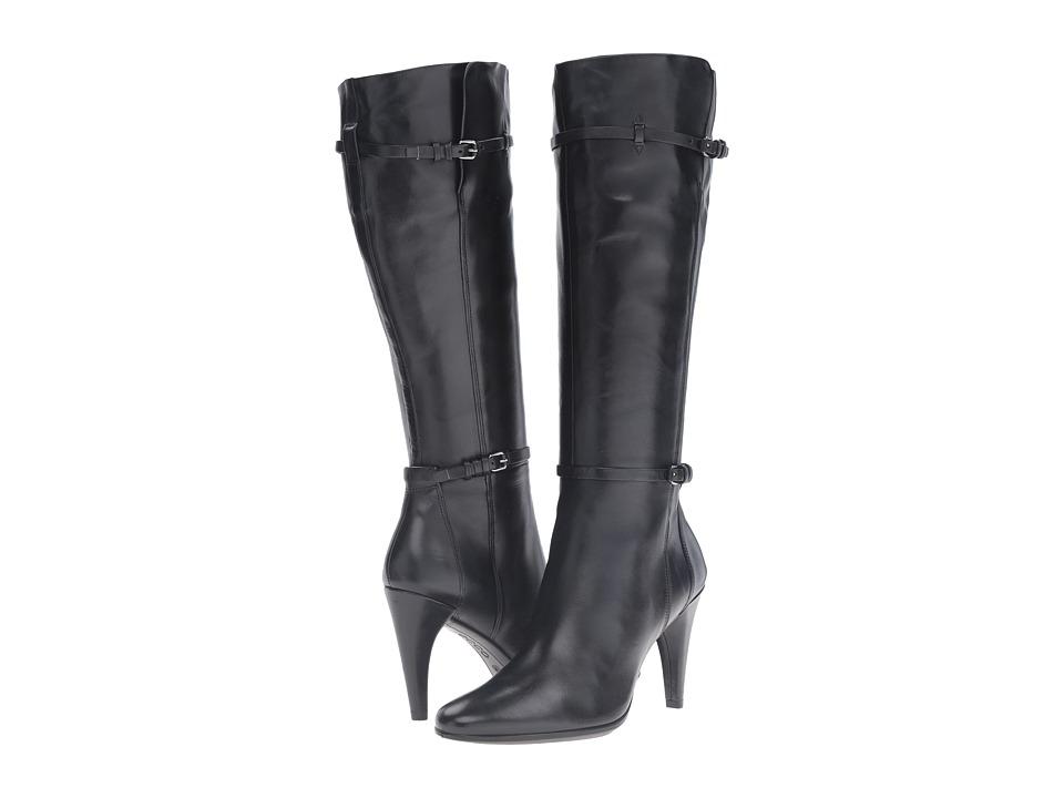ECCO - Shape 75 Sleek Tall Boot (Black Cow Leather) Women