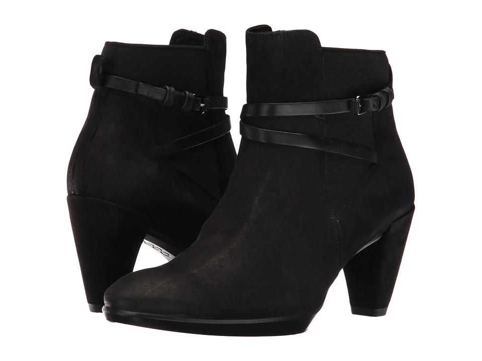 ECCO - Shape 55 Plateau Boot (Black/Black Calf Nubuck/Cow Nubuck) Women
