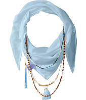 BCBGeneration - Solid Layered Beads Triangle Scarf
