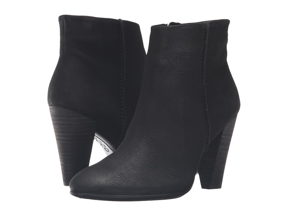 ECCO - Shape 75 Bootie (Black Cow Nubuck) Women