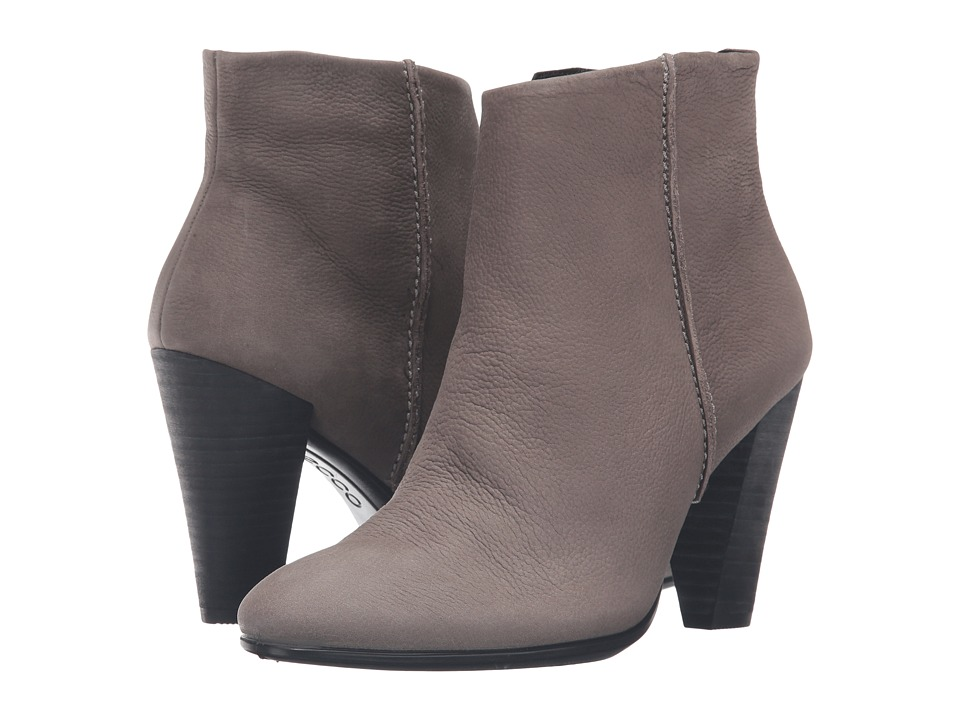 ECCO - Shape 75 Bootie (Warm Grey Cow Nubuck) Women