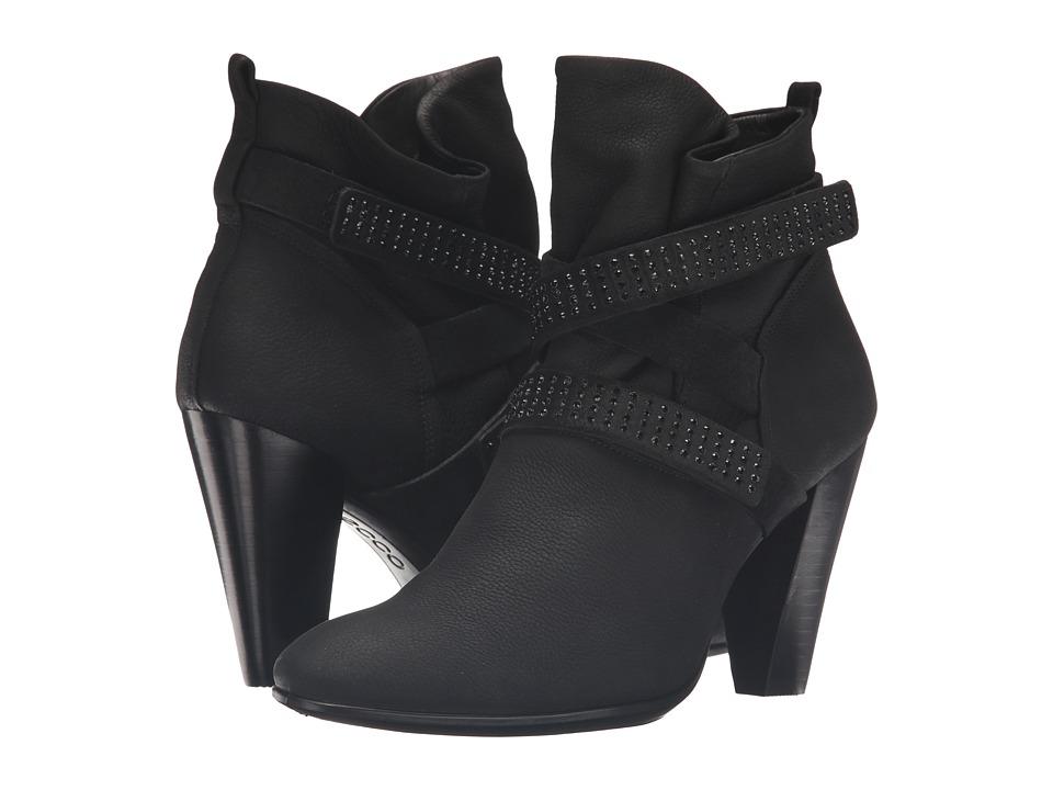 ECCO - Shape 75 Slouch Boot (Black/Black Cow Nubuck/Cow Suede) Women