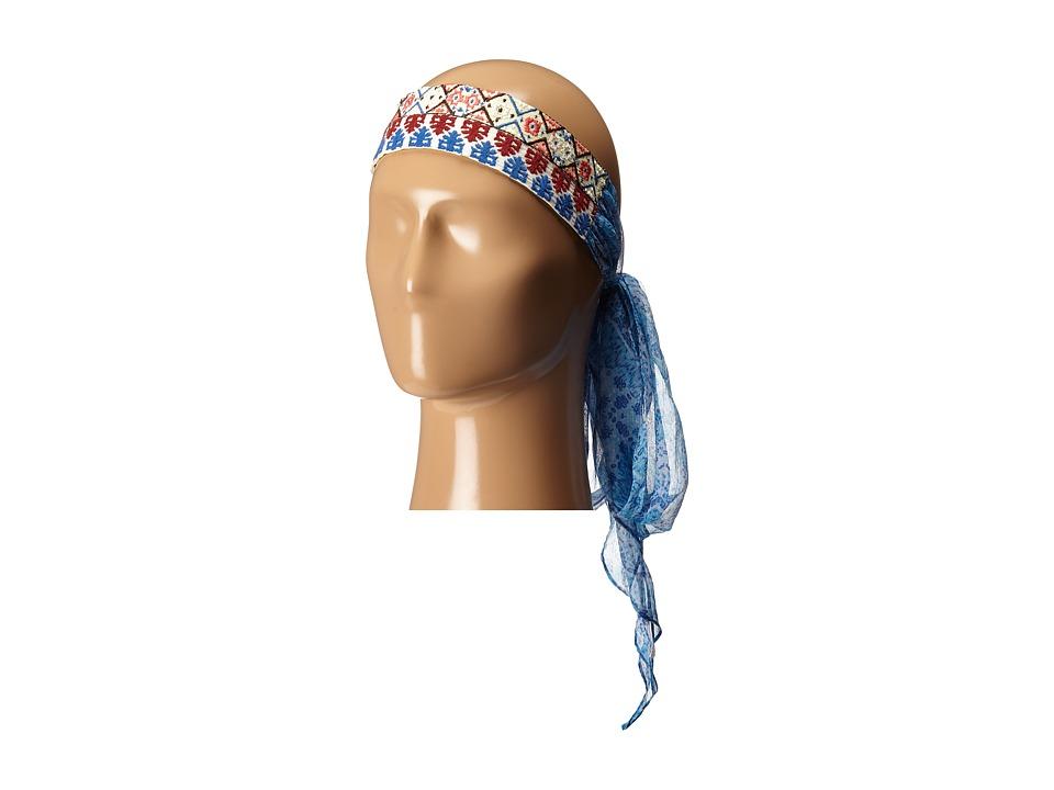 BCBGeneration Mosaic Me Headscarf Indigo Ink Scarves
