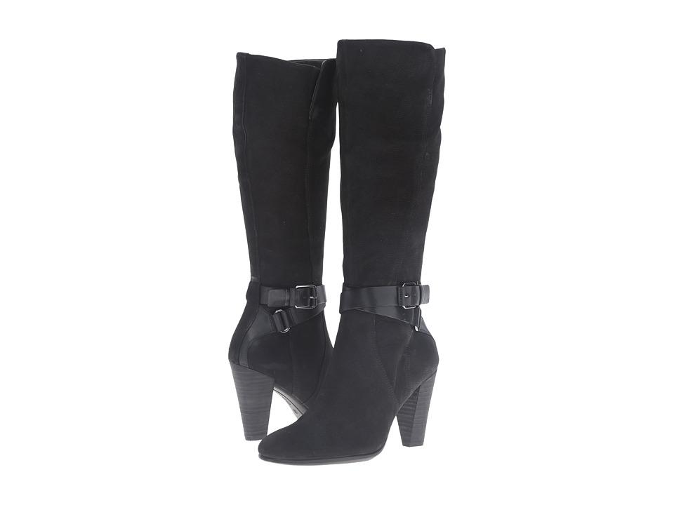 ECCO - Shape 75 Tall Boot (Black/Black Cow Nubuck) Women