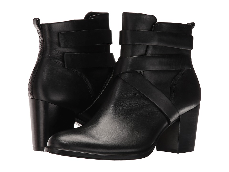 ECCO - Shape 55 Ankle Boot (Black/Black Cow Leather/Cow Nubuck) Women