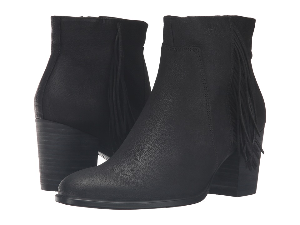 ECCO - Shape 55 Bootie (Black Cow Nubuck) Women