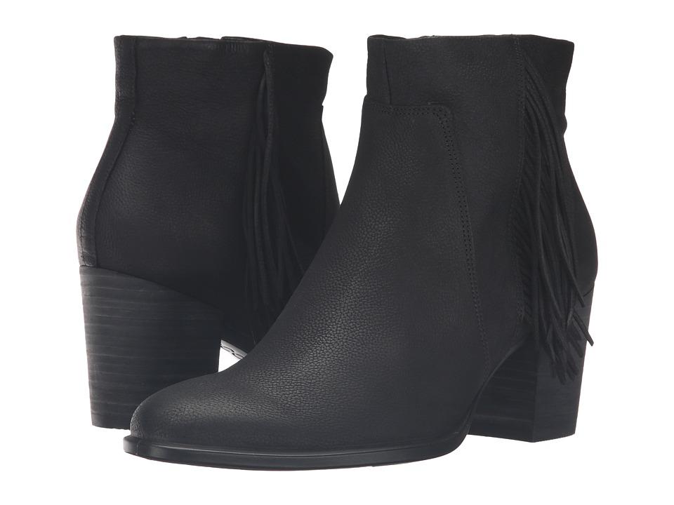 ECCO - Shape 55 Bootie (Black Cow Nubuck) Women