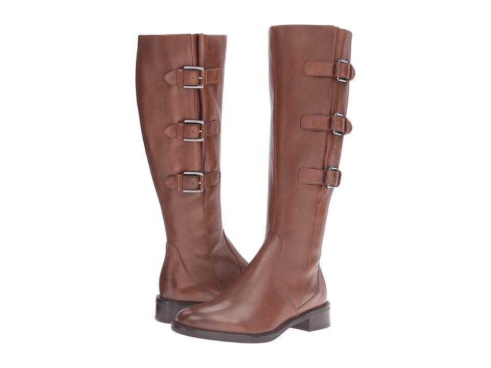 ECCO Hobart Buckle 25 MM Boot (Cognac Calf Leather) Women
