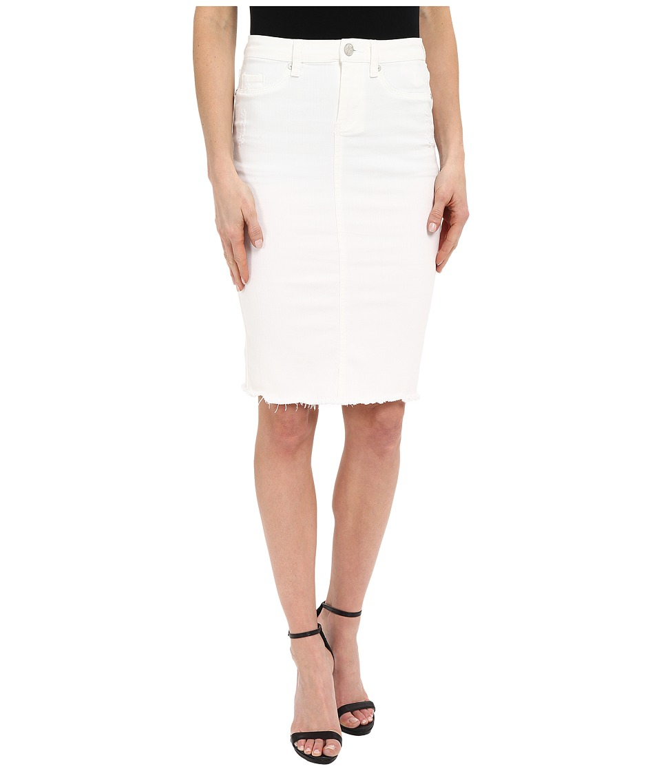 Blank NYC Released Hem Pencil Skirt White Womens Skirt