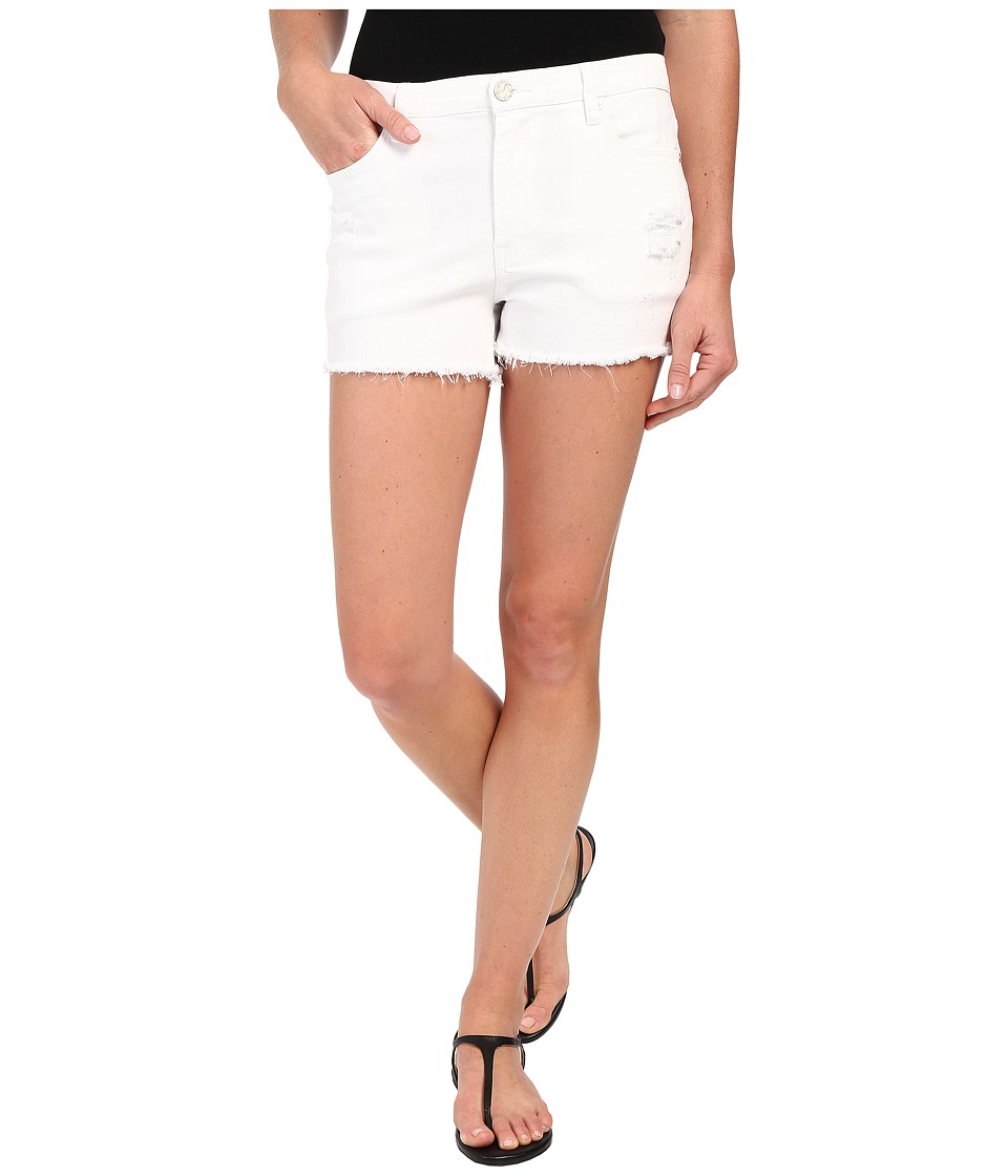 Blank NYC Hi Rise Short Cut Off Bottoms w/ Distressing White Womens Shorts