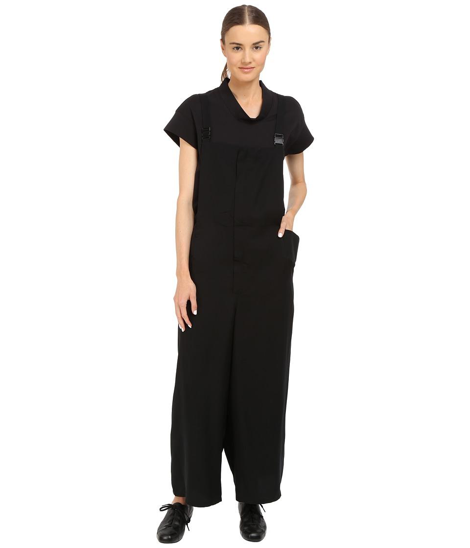 adidas Y 3 by Yohji Yamamoto Tencel Suspender Pants Black Womens Jumpsuit Rompers One Piece