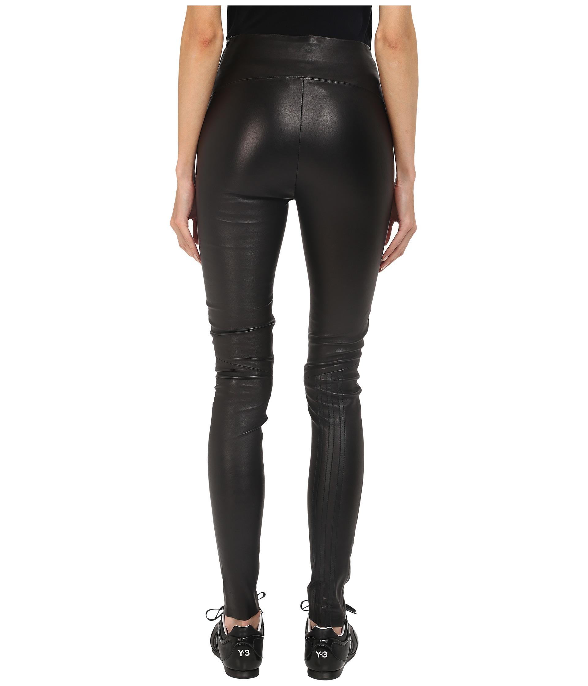 adidas Y-3 by Yohji Yamamoto Stretch Leather Leggings ...