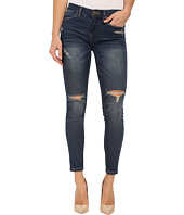 Blank NYC - Denim Crop Ripped Knee Skinny Jeans in Blue