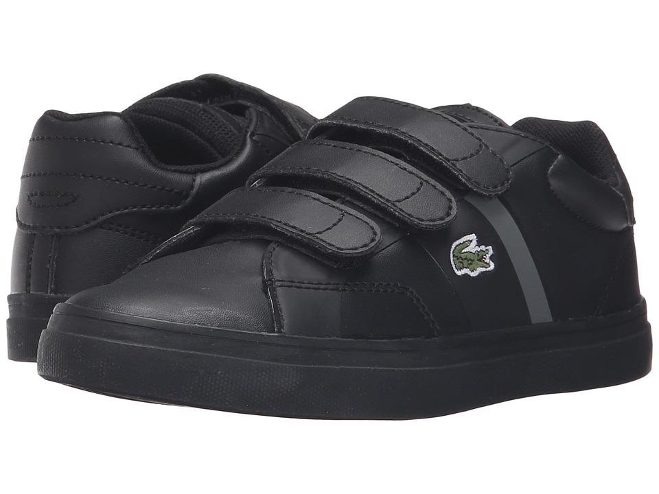 Lacoste Kids Fairlead 316 1 SPC (Little Kid) (Black) Kid