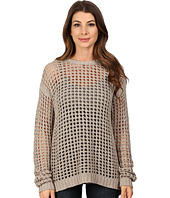 Blank NYC - Mesh Stitch Sweater with Open Back Detail