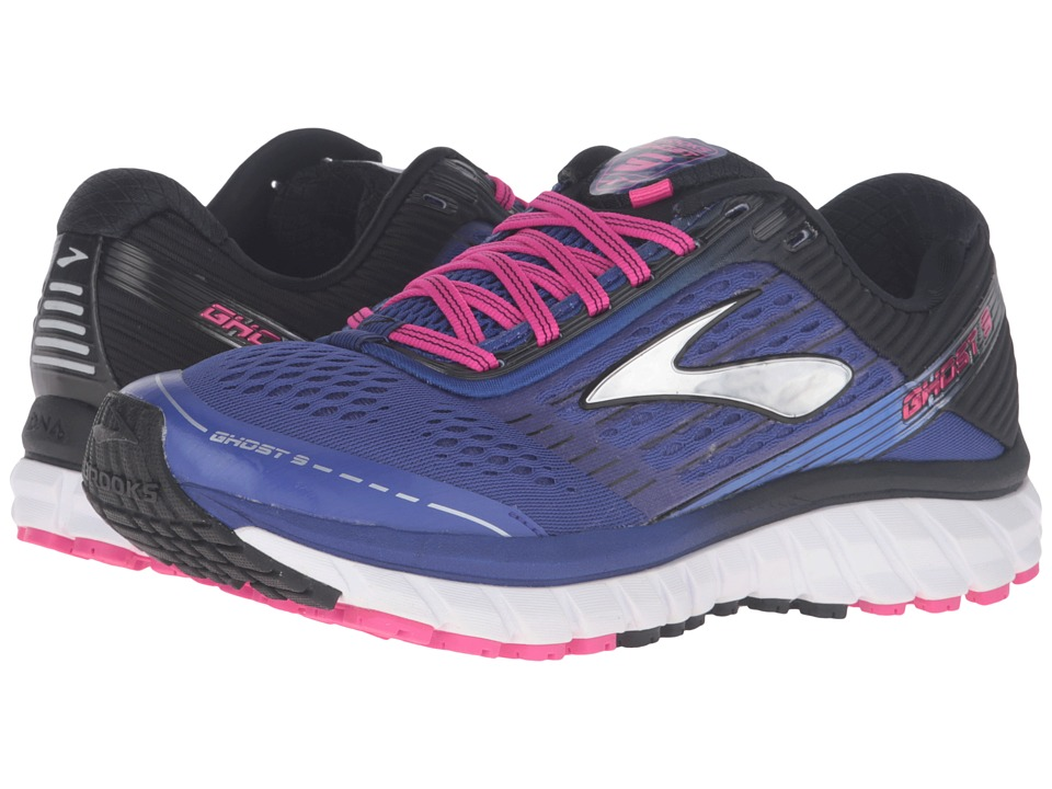 Brooks Ghost 9 (Clematis Blue/Black/Pink Glow) Women