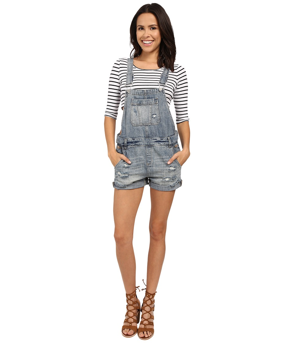 Blank NYC Denim Short Overalls Denim Blue Womens Overalls One Piece