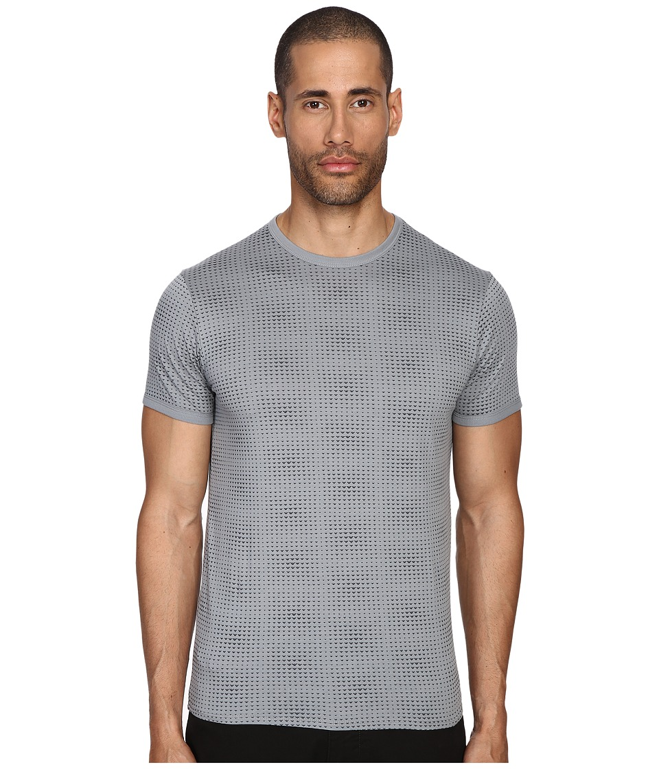 Armani Jeans All Over Printed Tee Gray Mens T Shirt