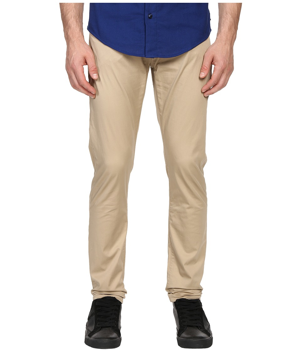 Armani Jeans Slim Fit Button Fly Jeans in Eggshell Eggshell Mens Jeans