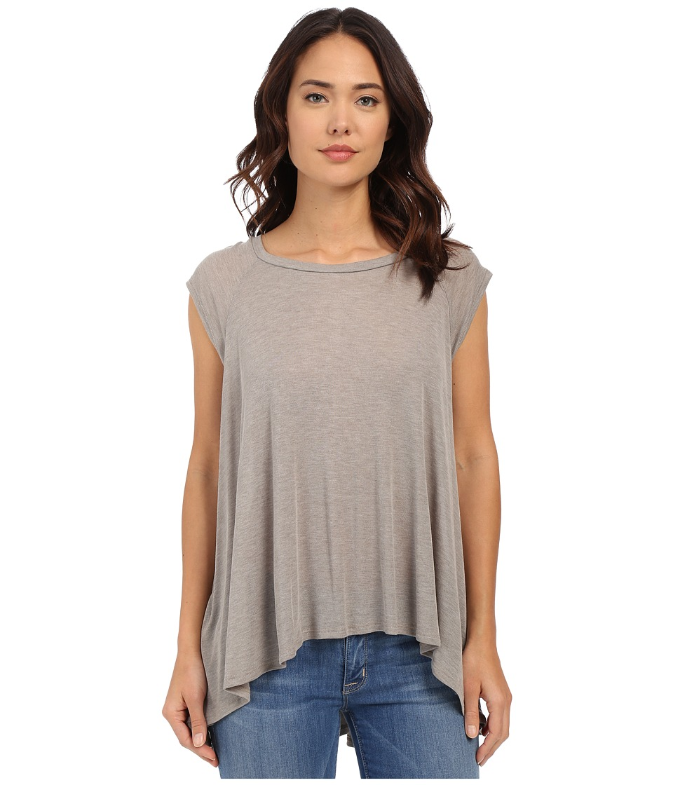LNA High Low Muscle Top Bark Womens Clothing