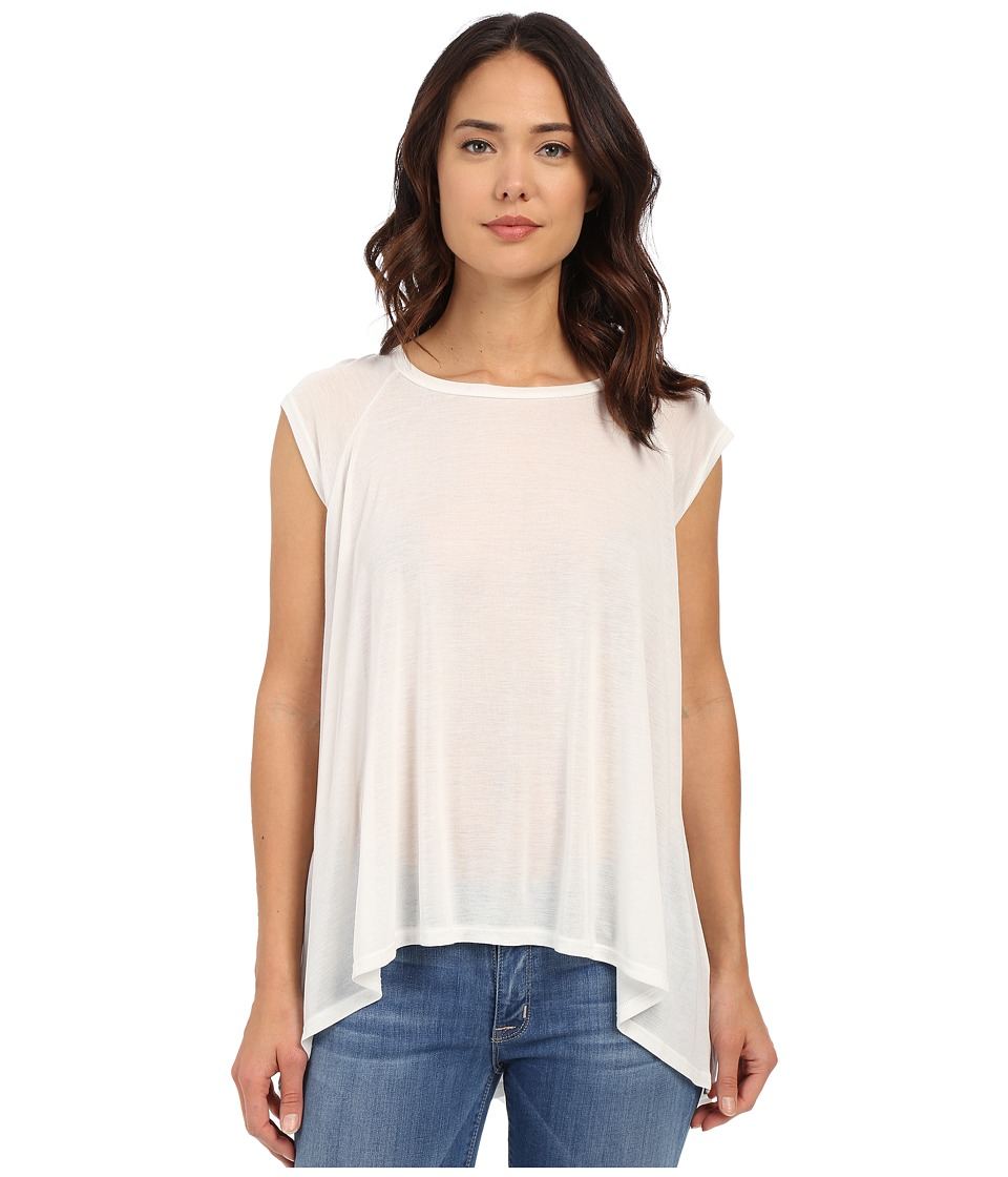 LNA High Low Muscle Top White Womens Clothing